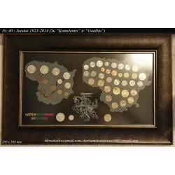 """Rėmelis Lietuvos monetoms Nr. 40 - 1925-2014 """"Kumelėmis ir Gaidžiu"""""""