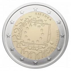 Lietuva 2 eurai, 2015 Europos Sąjungos vėliavos 30-metis