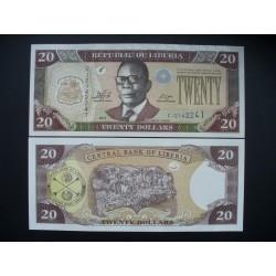 Liberija 20 Dolerių, 2011 P-28f