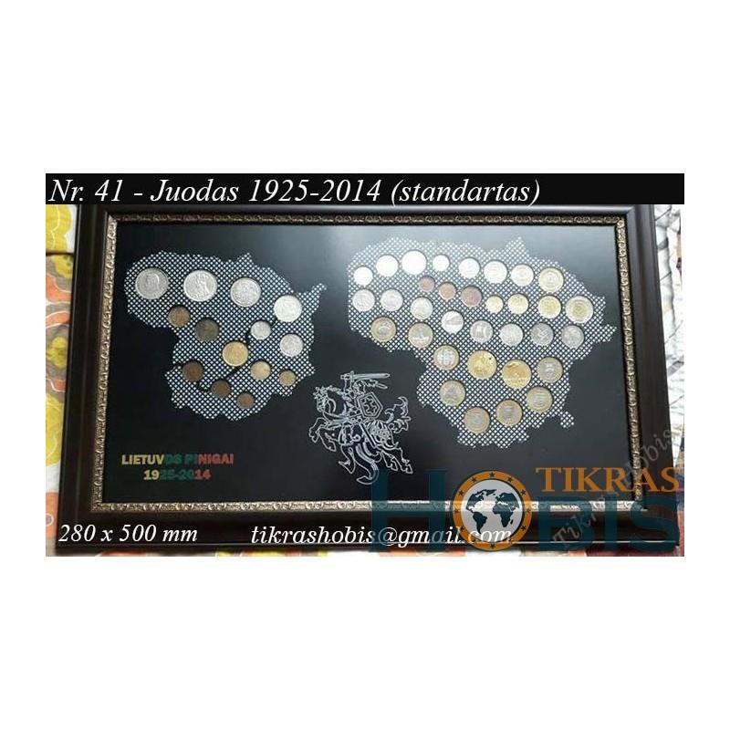 Rėmelis Lietuvos monetoms Nr. 41 - 1925-2014 Standartas