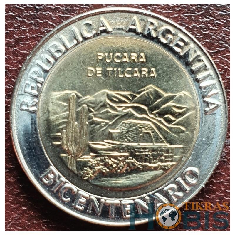 Argentina 1 pesas, 2010 Pukara de Tilkara