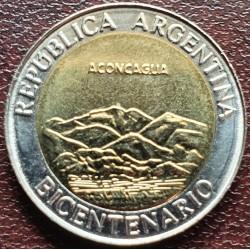 Argentina 1 pesas, 2010 Akonkagva