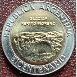 Argentina 1 pesas, 2010 Perito Moreno ledynas