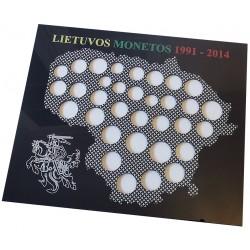 Rėmelis Lietuvos monetoms Nr. 64 - 1991-2014 su proginėmis