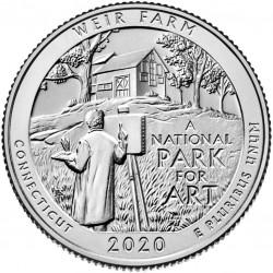 JAV 25 centai, 2020 Weir Farm, Connecticut