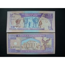 Somalilandas 10 šilingų, 1994 P-2a