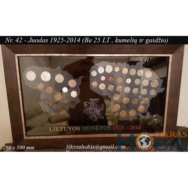 Rėmelis Lietuvos monetoms Nr. 42 - 1925-2014 Be 25 litų