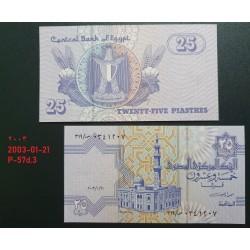 Egiptas 25 Piastres, 2003-01-21 P-57d.3