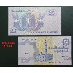 Egiptas 25 Piastres, 1998-05-25 P-57b.20
