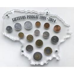 Rėmelis Lietuvos monetoms Nr. 72 - 1991-2014