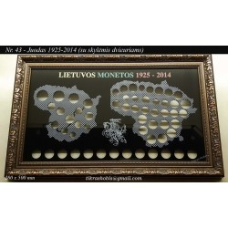 Frame for Lithuanian coins No. 43 - 1925-2014 + 2 Euro