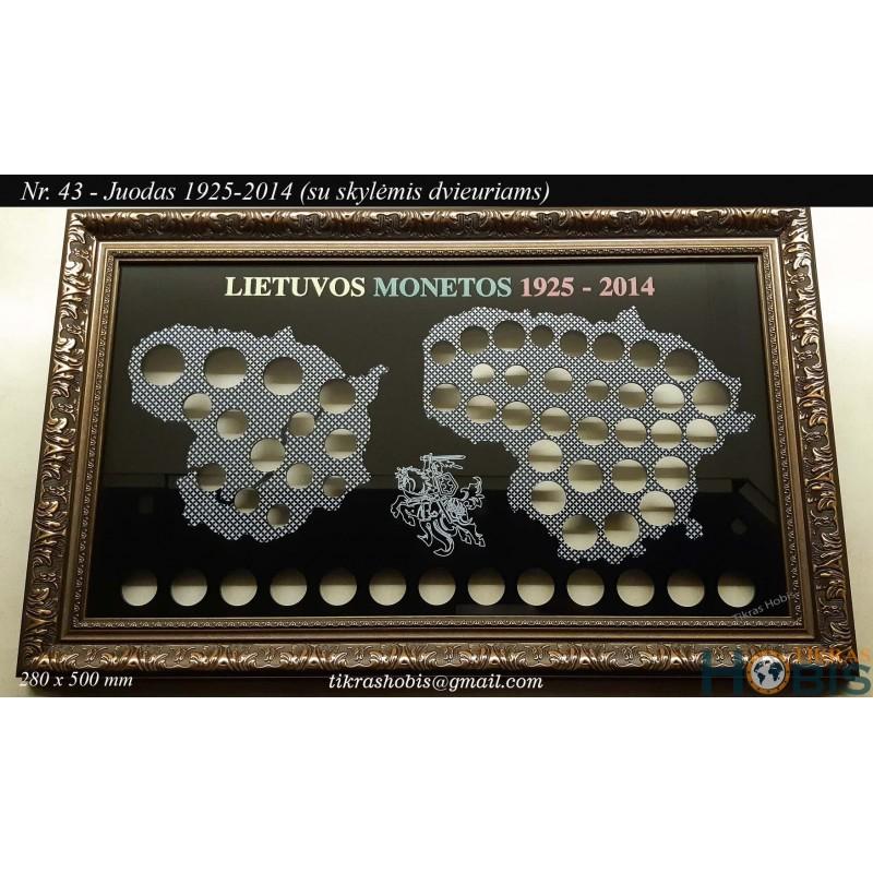 Rėmelis Lietuvos monetoms Nr. 43 - 1925-2014 + 2 Euro