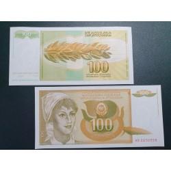 Jugoslavija 100 dinarų, 1990 P-105a