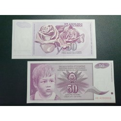 Jugoslavija 50 dinarų, 1990 P-104a