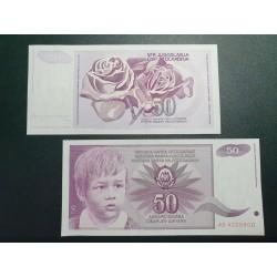 Yugoslavia 50 dinars, 1990...