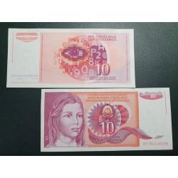 Jugoslavija 10 dinarų, 1990 P-103a