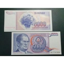 Jugoslavija 5000 dinarų, 1985 P-93a