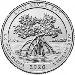 JAV 25 centai, 2020 Salt River Bay, U.S. Virgin islands