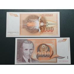 Jugoslavija 1000 dinarų, 1990 P-107a