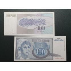 Jugoslavija 100 dinarų, 1992 P-112a