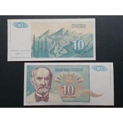 Yugoslavia 10 dinars, 1994...