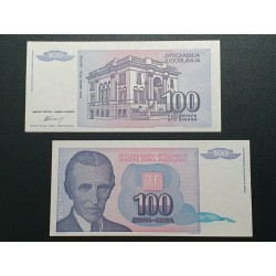 Jugoslavija 100 dinarų, 1994 P-139a