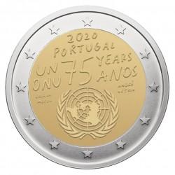 Portugalija 2 eurai, 2020 Jungtinių tautų 75 metų
