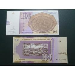 Makedonija 100 dinarų, 2018 P-16l