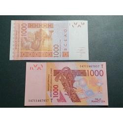 Vakarų Afrikos vals., Senegalas 1000 frankų, 2014 P-715 Kn