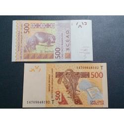 Vakarų Afrikos vals., Senegalas 500 frankų, 2014 P-719 Kc