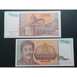 Jugoslavija 5 mln. dinarų, 1993 P-132a