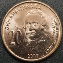 Serbija 20 dinarų, 2007 Dositej Obradovic