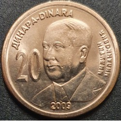 Serbia 20 dinars, 2009 Milutin Milankovic