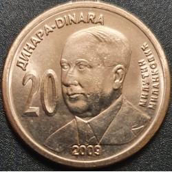 Serbija 20 dinarų, 2009 Milutin Milankovic