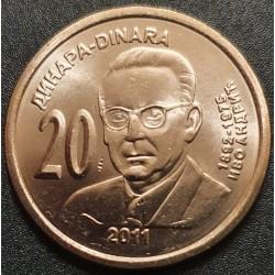 Serbija 20 dinarų, 2011 Ivo Andric