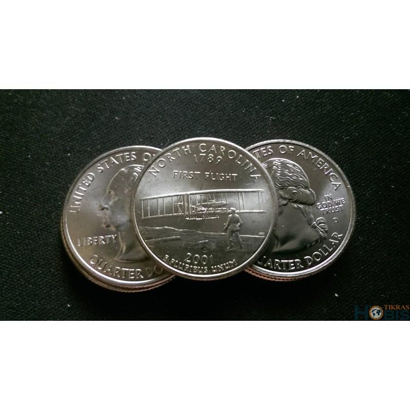 JAV 25 centai, 2001 North Carolina UNC