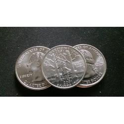 JAV 25 centai, 2001 Vermont UNC