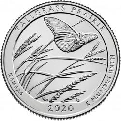 US 25 cents, 2020 Tallgrass Prairie, Kansas