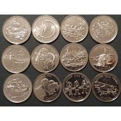 Kanada 25 centai, 1999 proginių 12 monetų rinkinys