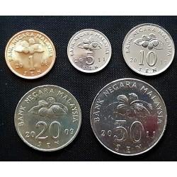 Malaizija 1, 5,10, 20, 50 senai, 2006-2011