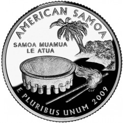 JAV 25 centai, 2009 American Samoa UNC