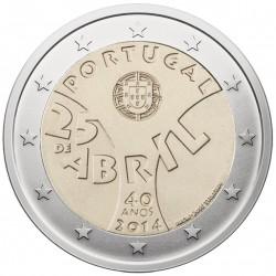 Portugal 2 euro, 2014 40th Carnation revolution