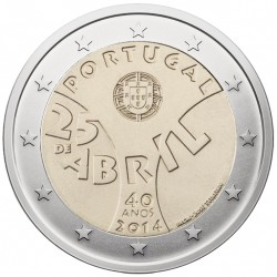 Portugal 2 euro, 2014 40th Carnation revolution