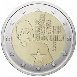 Slovėnija 2 eurai, 2011 Franco Rozmano-Stanės 100