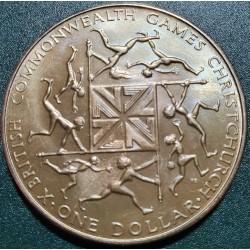Naujoji Zelandija 1 doleris, 1974 Sandraugos žaidynės