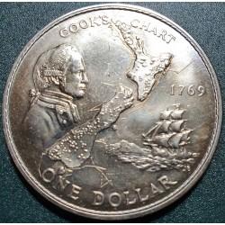 New Zealand 1 dollar, 1974...