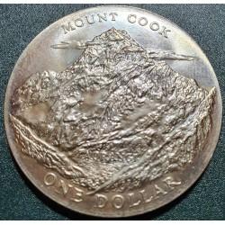 New Zealand 1 dollar, 1970 Mount Cook