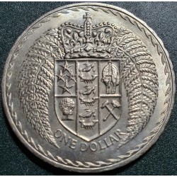 New Zealand 1 dollar, 1967