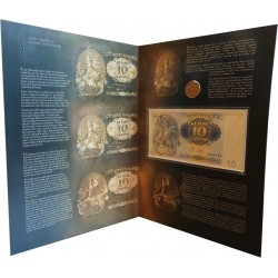 10 kroon banknote and 1...
