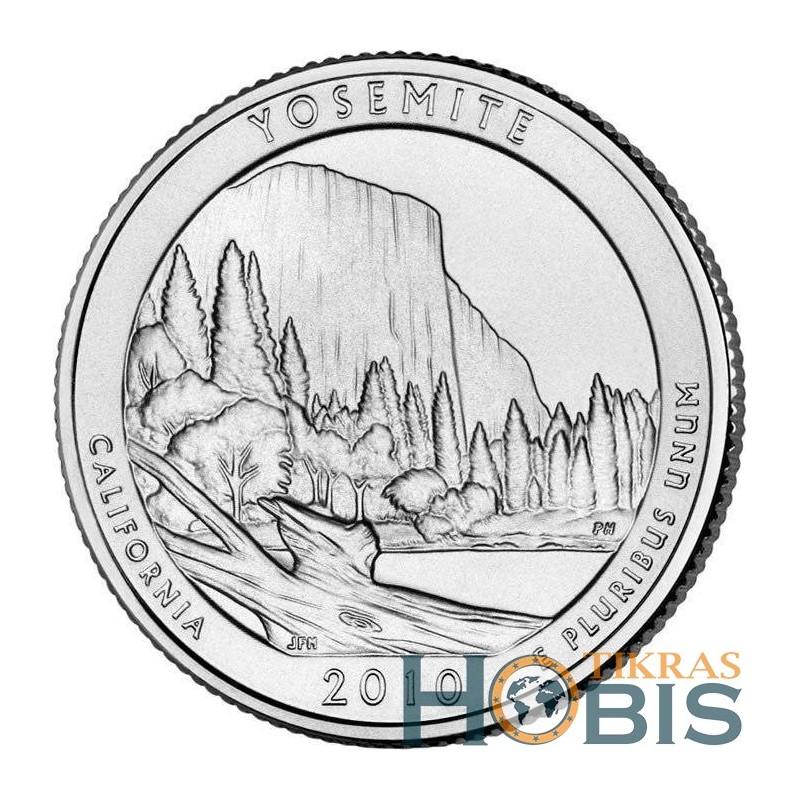 JAV 25 centai, 2010 Yosemite, California